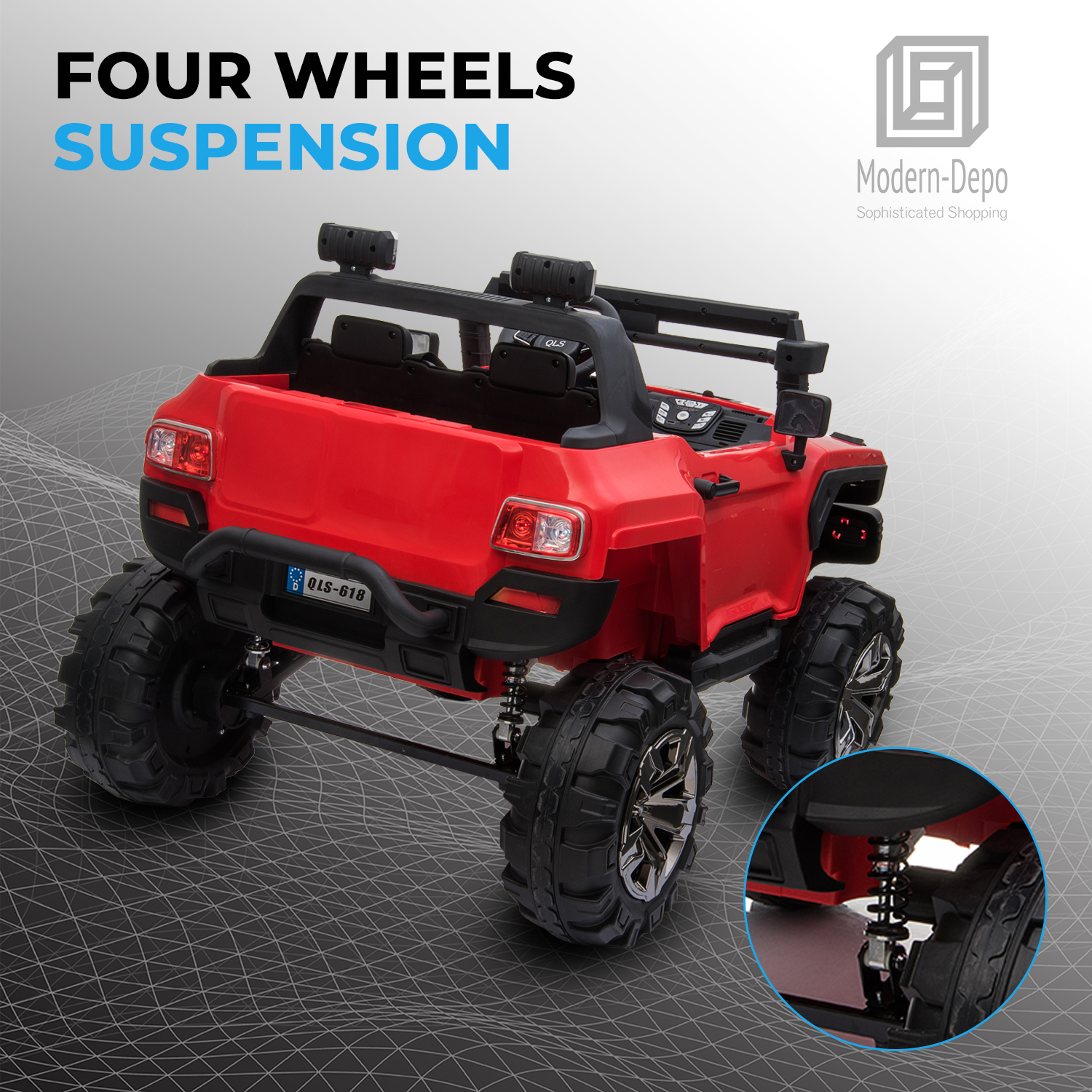 2-Seaters-4-4-Off-Road-Electric-12V-Ride-on-Car-with-Remote-Control miniature 24