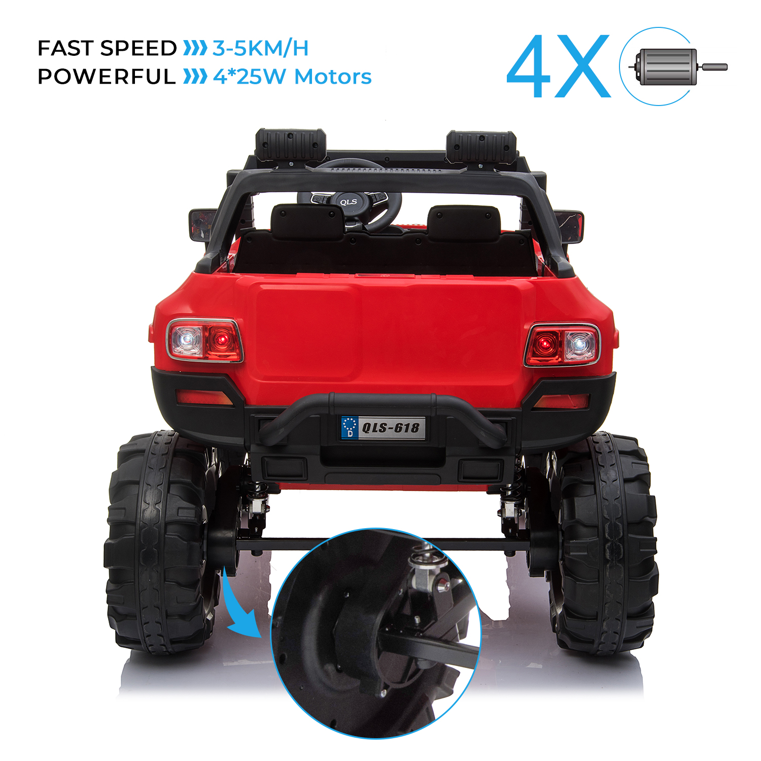 2-Seaters-4-4-Off-Road-Electric-12V-Ride-on-Car-with-Remote-Control miniature 21