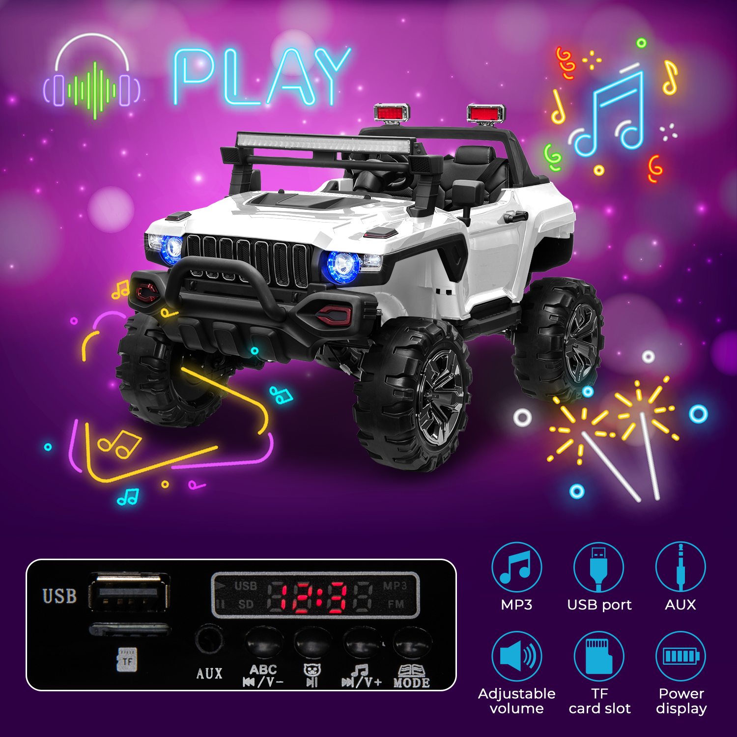2-Seaters-4-4-Off-Road-Electric-12V-Ride-on-Car-with-Remote-Control miniature 32