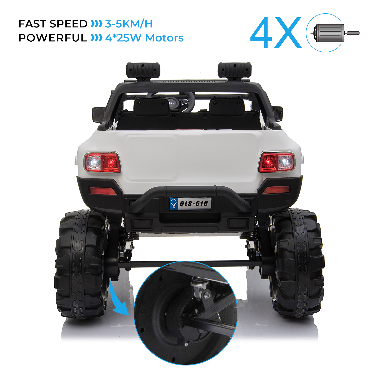 2-Seaters-4-4-Off-Road-Electric-12V-Ride-on-Car-with-Remote-Control miniature 30