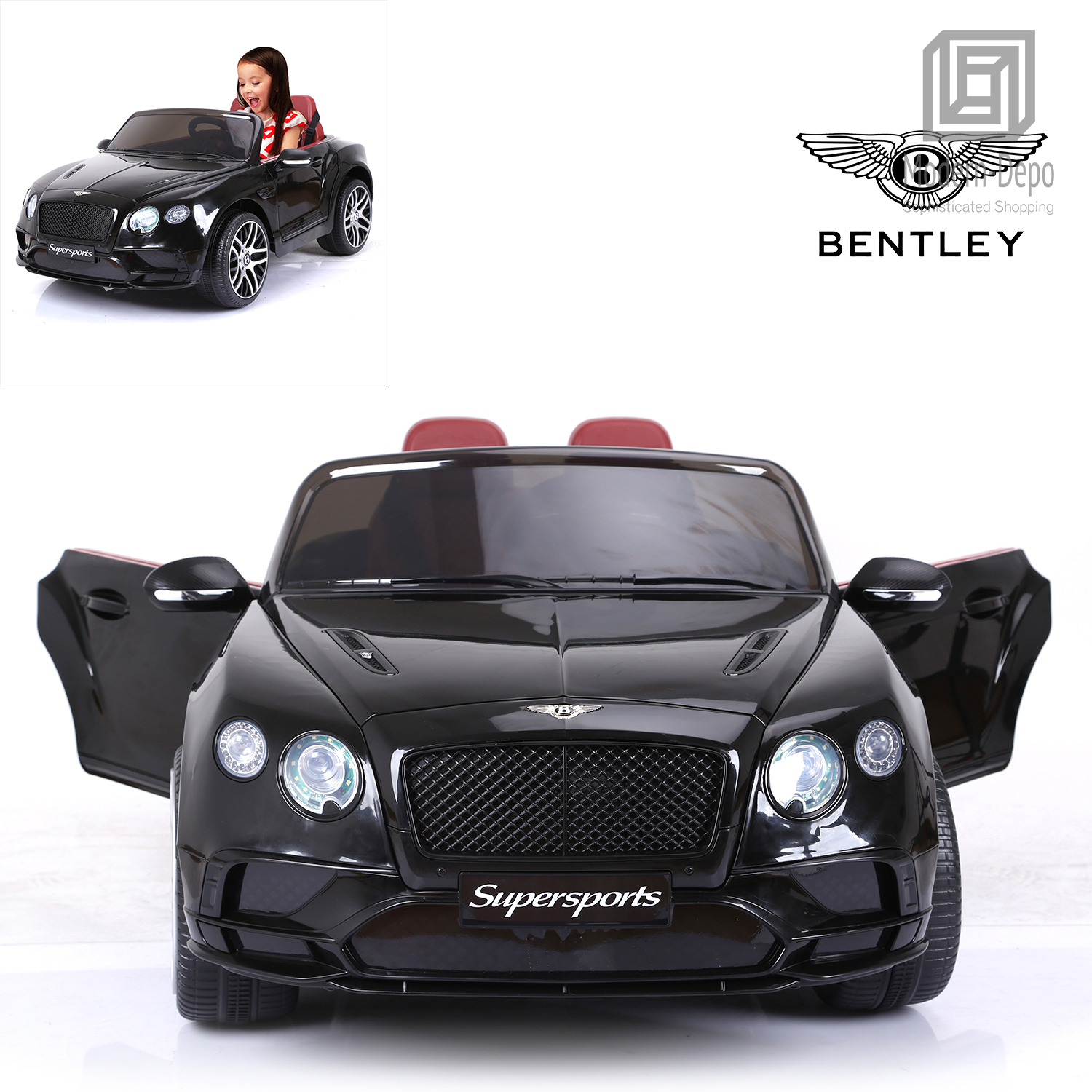Bentley Continental Supersports 12V Kids Ride On Car with ...