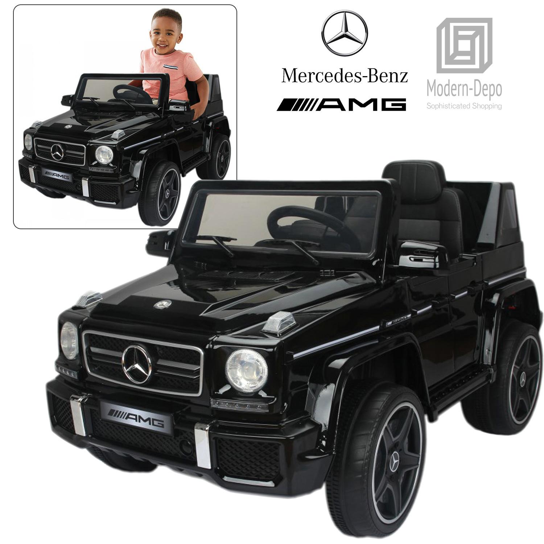 Licensed Mercedes Benz Amg G63 12v Kids Ride On Car With Remote Control Black 842961124674 Ebay