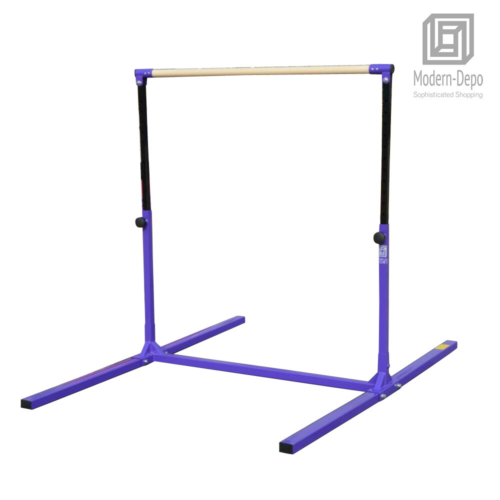 3-5ft-Height-Adjustable-Pro-Gymnastics-Horizontal-Bar-for-Kids-Home-Training thumbnail 12