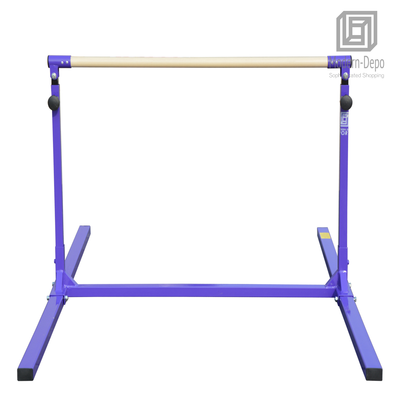 3-5ft-Height-Adjustable-Pro-Gymnastics-Horizontal-Bar-for-Kids-Home-Training thumbnail 14