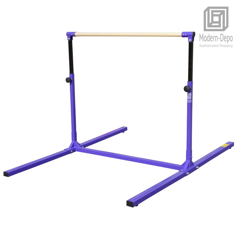 3-5ft-Height-Adjustable-Pro-Gymnastics-Horizontal-Bar-for-Kids-Home-Training thumbnail 13