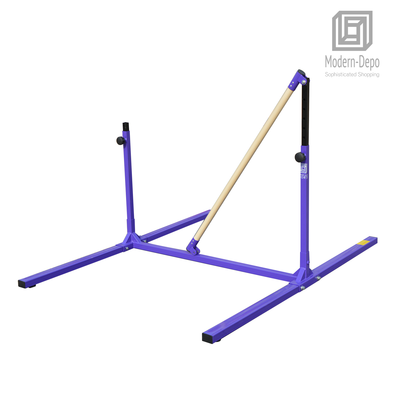 3-5ft-Height-Adjustable-Pro-Gymnastics-Horizontal-Bar-for-Kids-Home-Training thumbnail 18