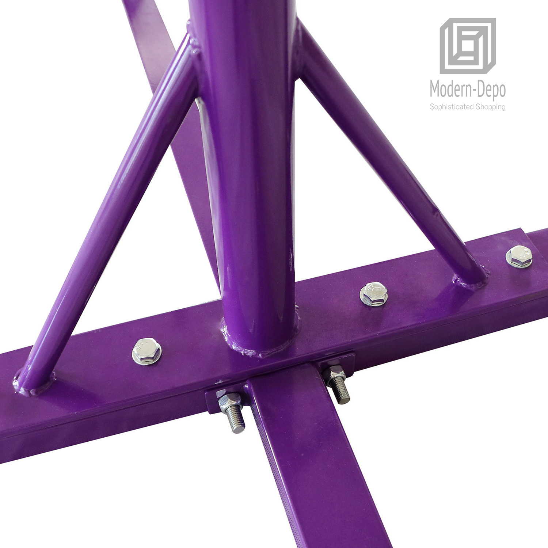 Gymnastics-Junior-Training-Bar-Kids-Adjustable-Horizontal-Kip-Bar-Purple-Pink thumbnail 16