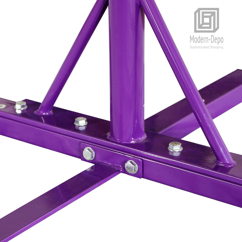 Gymnastics-Junior-Training-Bar-Kids-Adjustable-Horizontal-Kip-Bar-Purple-Pink thumbnail 17