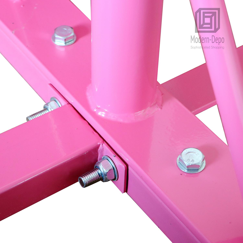 Gymnastics-Junior-Training-Bar-Kids-Adjustable-Horizontal-Kip-Bar-Purple-Pink thumbnail 11