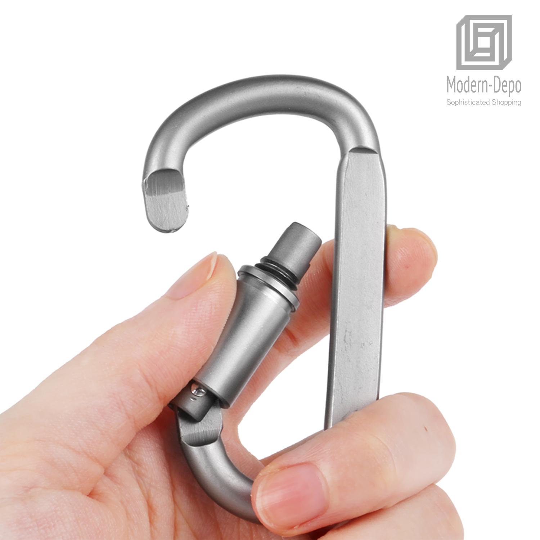 Aluminum-Carabiner-Clip-Hook-D-ring-Outdoor-Camping-Hiking-Buckle-Key-Chain thumbnail 15