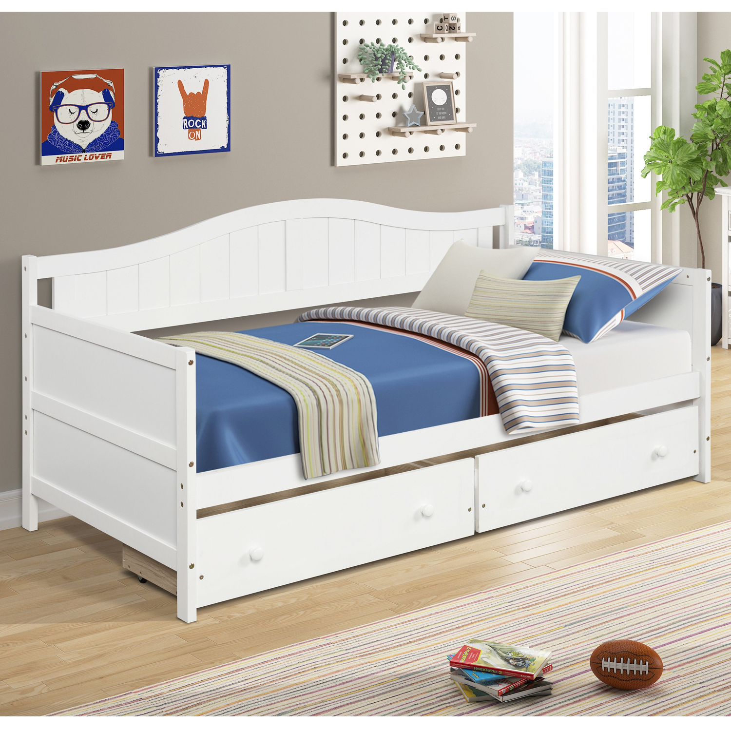 bed with drawers underneath