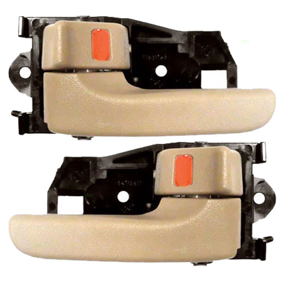 New pair set inside inner interior tan door handle - 2002 toyota camry interior door handle ...