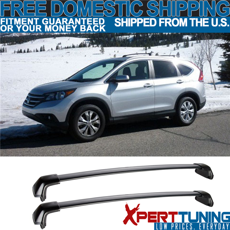 Fits 12-16 Honda CRV CR-V OE FACTORY Style Roof Rack Cross Bar Black Polish