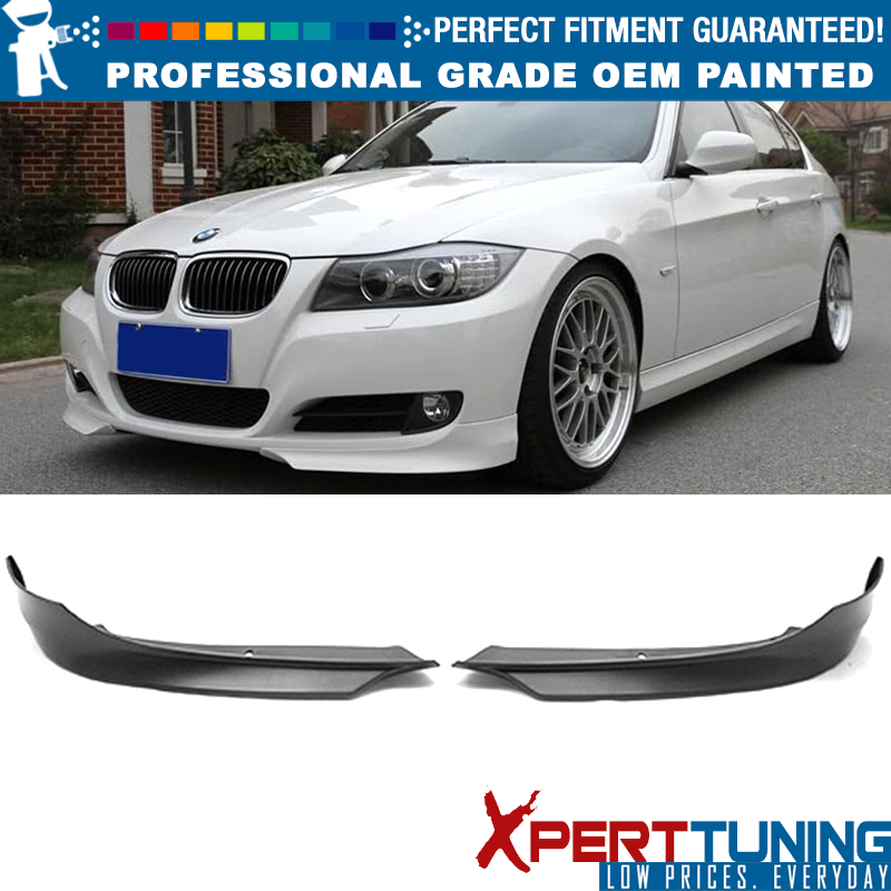 2010 2011 Type L PP Painted Space Gray #A52 Chin Splitter Bodykit Other Color Available By IKON MOTORSPORTS Pre-painted Front Splitter Lip Compatible With 2009-2012 BMW E90