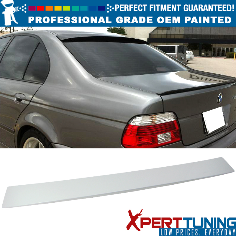 Unpainted 1996-2003 02 01 00 E39 For BMW 5-Series JR2 Rear Window Roof Spoiler
