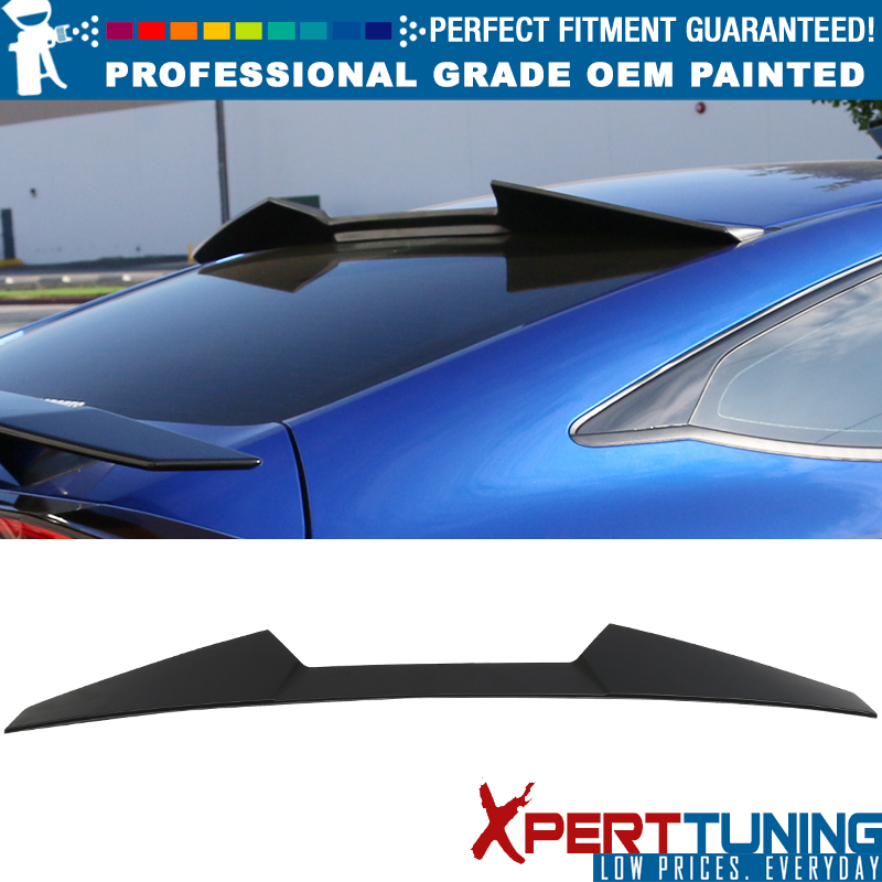 Details About Fits 16 18 Honda Civic X 10th Gen Coupe V Style Roof Spoiler Oem Painted Color