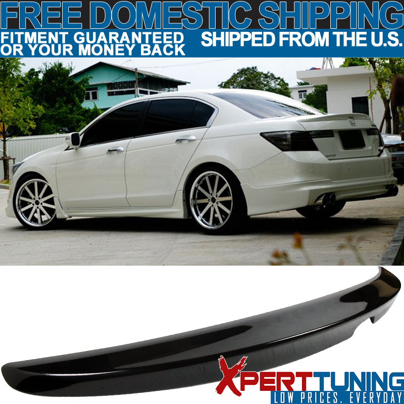 Fits 08-12 Accord Coupe OE Trunk Spoiler Painted #B92P Nighthawk Black Pearl
