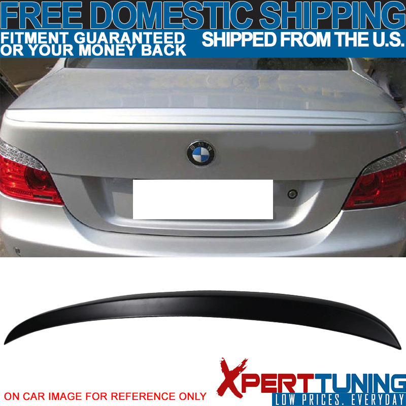 04-10 BMW E60 5-Series Sedan M5 Style Trunk Spoiler Wing ABS New