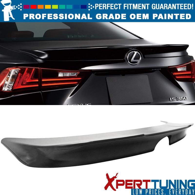 FITs 14-16 Lexus IS250 IS300 IS350 F SPORT Unpainted ABS Trunk Spoiler