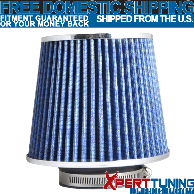 """BLUE 6/"""" Inlet 152mm Cold Air Intake Cone Universal TRUCK FILTER For Hyundai"""