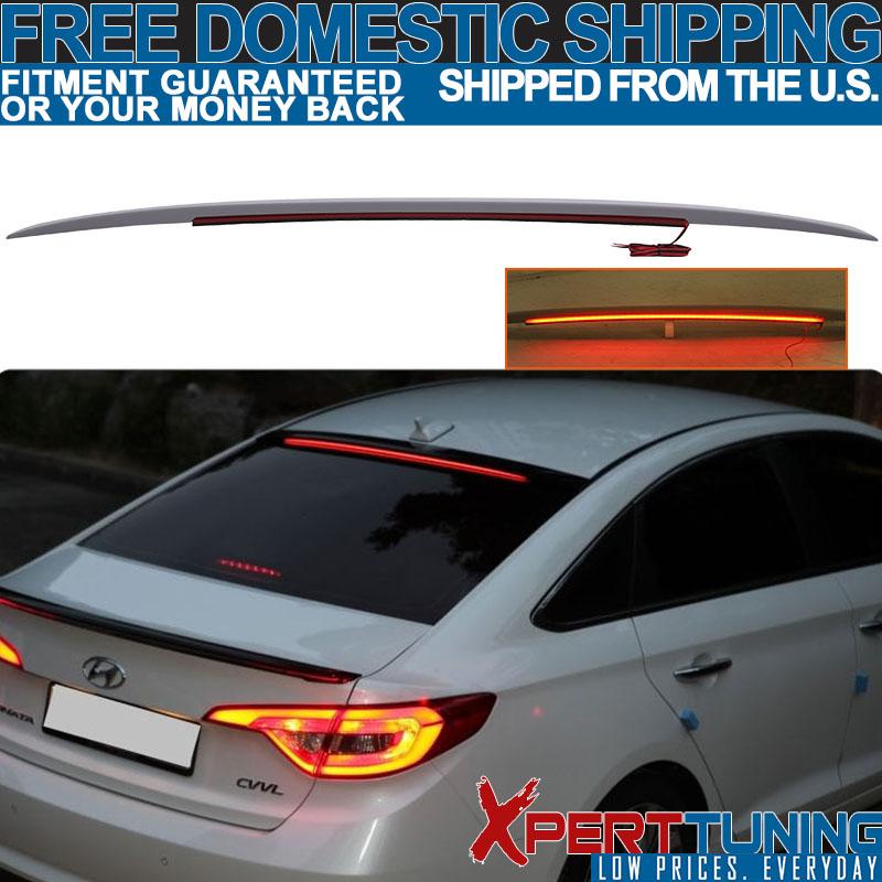 Flat Black P Type Rear Trunk Lip Spoiler For Hyundai Sonata YF Sedan 2011~2014