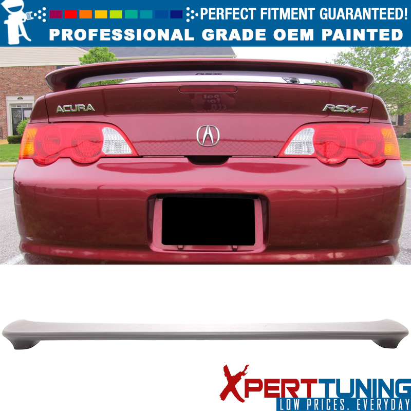 ABS Pre-Painted Custom Style Rear Truck Spoiler Wing+Brake Light For 02-06 RSX