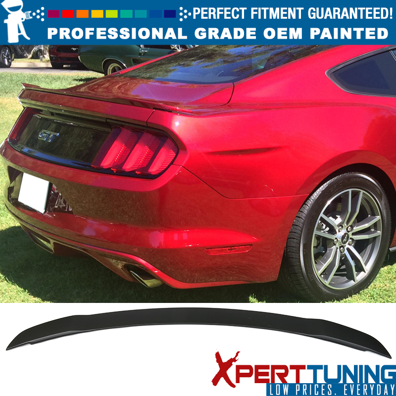 Painted Spoiler For 15-19 Ford Mustang Coupe ABS Rear Trunk UA PITCH BLACK