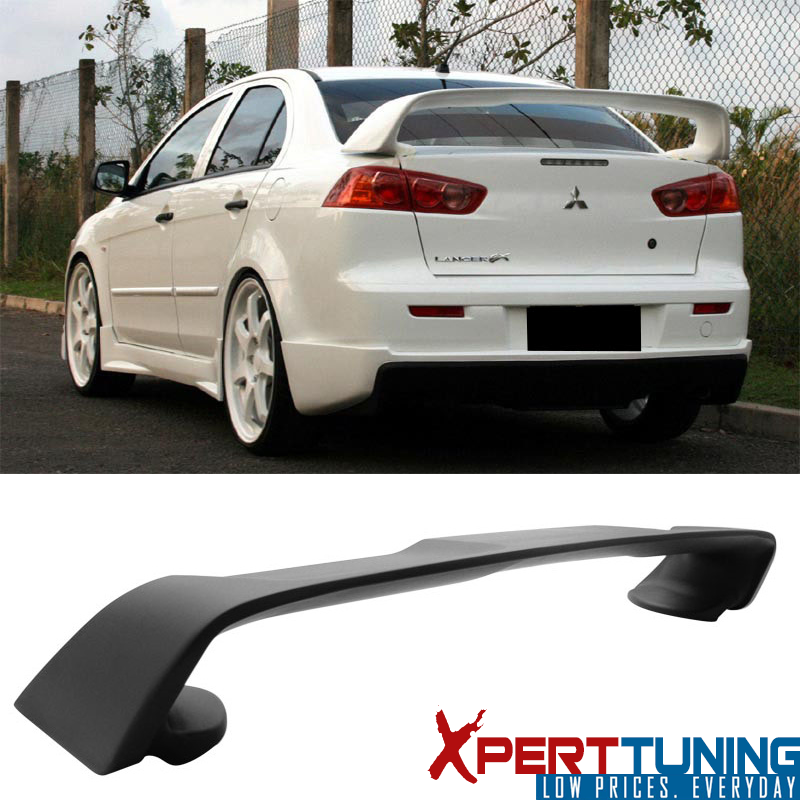 Details about Fits 08-17 Mitsubishi Lancer EVO 10 EVO-X Matte Black Rear  Trunk Spoiler Wing