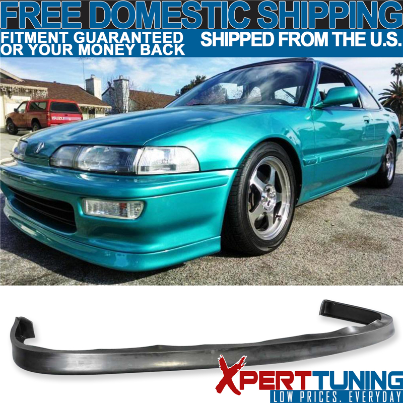 Fits 92 93 Acura Integra JDP Style Poly Urethane PU Front Bumper Lip Spoiler