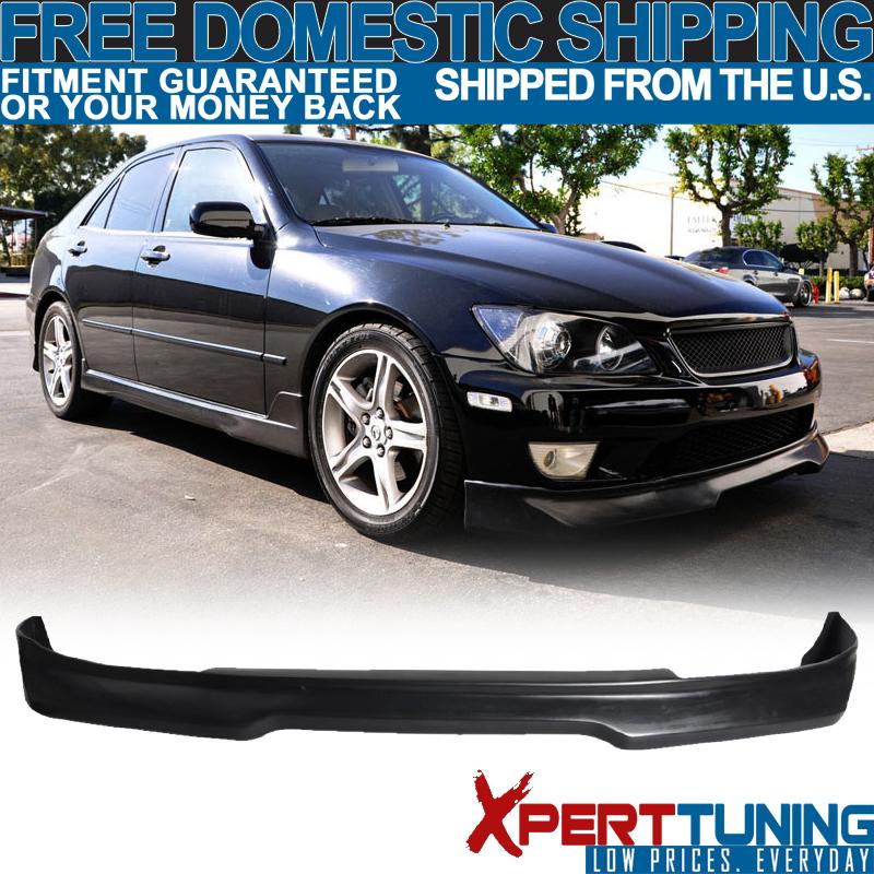 01-05 Lexus Is300 IK Poly Urethane Black Front Bumper Lip Spoiler Bodykit