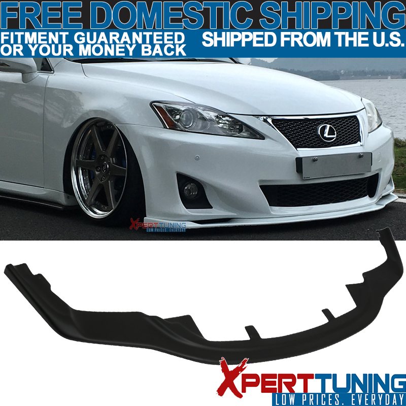 Front Bumper Fog Splitter Lips Fits 2011 2012 2013 IS250 IS350 F-Sport 11 12 13