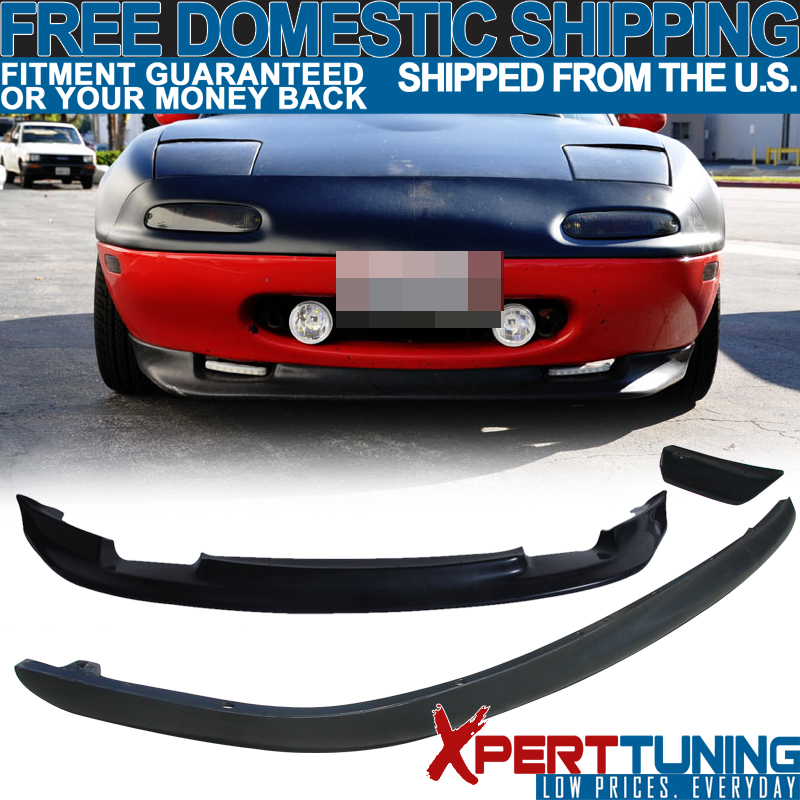 For 1990-1997 Mazda Miata RS-Style Black Polyurethane Rear Bumper Spoiler Lip
