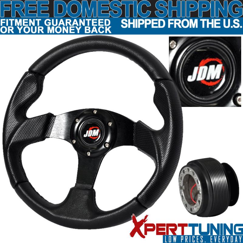 Steering Wheel 320mm Carbon Fiber Steering Wheel Waterproof for Racing Car for Car red