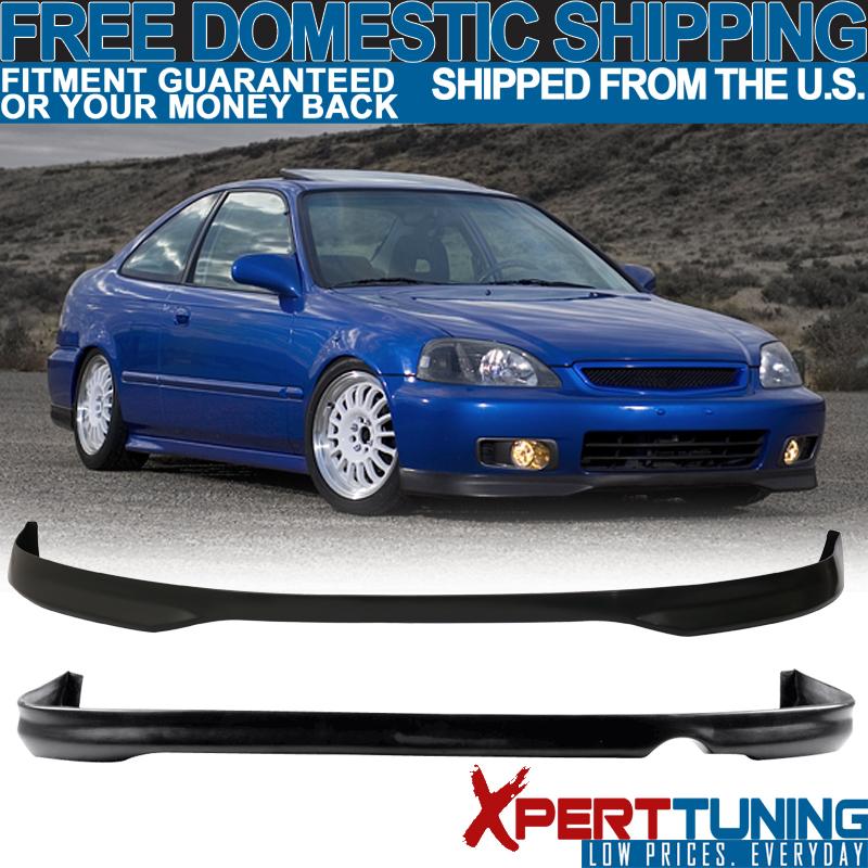 Fits 1996-1998 Honda Civic EK 2 4Dr Mug PP Front Rear Bumper Lip Spoiler