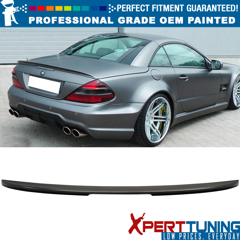 03-11 MERCEDES BENZ SL class R230 A Rear Trunk Spoiler Wing ABS 197 Painted