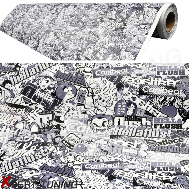 """15/""""x30/"""" Hellaflush Sticker Bomb Vinyl Film For Car Wrapping With Air Bubble Free"""