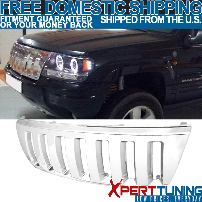 REPLACEMENT CHROME BONNET GRILL FOR JEEP GRAND CHEROKEE 1999-2003 MODEL