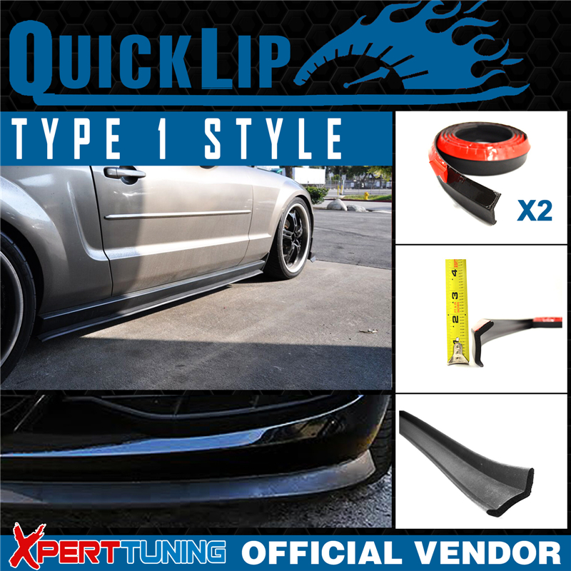 Type 1 Quick Lip For Mazda Universal Side Skirts Extension Trim x2 EZ 100in