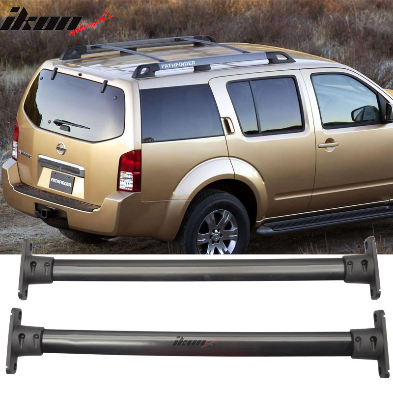 fits 05 12 nissan pathfinder oe factory style roof rack cross bar black pair ebay details about fits 05 12 nissan pathfinder oe factory style roof rack cross bar black pair
