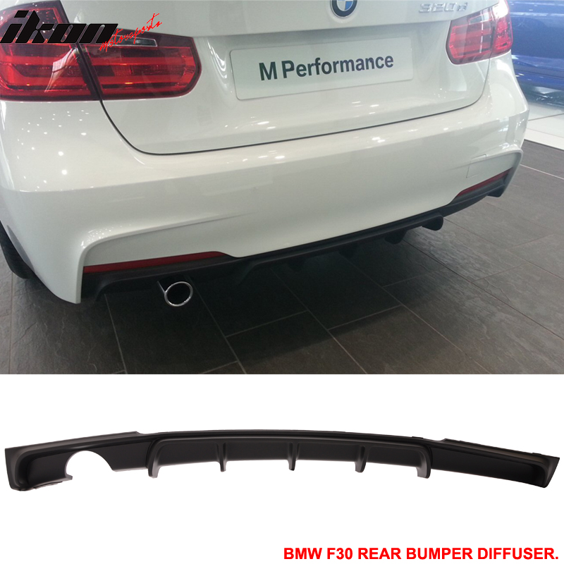 Fits 12 18 F30 M Performance Style Rear Bumper Lip Diffuser With