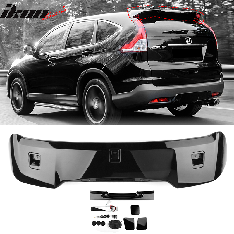 Pre-painted Trunk Spoiler Compatible With 2012-2015 Honda Civic Painted #NH731P Crystal Black Pearl ABS Car Exterior Rear Spoiler Wing Tail Roof Top Lid other color available by IKON MOTORSPORTS