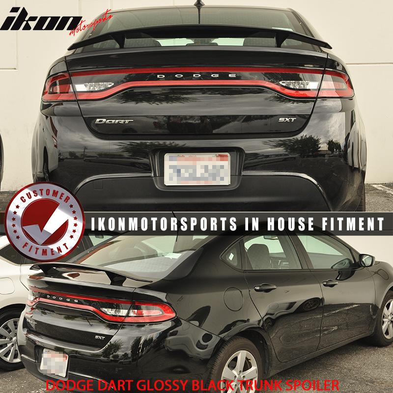 Fits 13 16 Dodge Dart 2 Post Glossy Black Trunk Spoiler