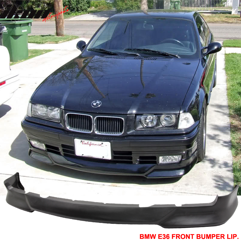 Fits 92 98 Bmw E36 3 Series M Tech Msport Front Bumper Lip Unpainted Pu 842961154442 Ebay