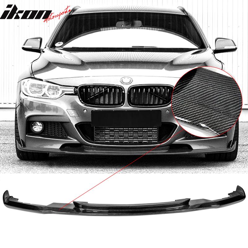 Fits 12 18 Bmw F30 M Sport M Tech Hm Style Front Bumper Lip Carbon