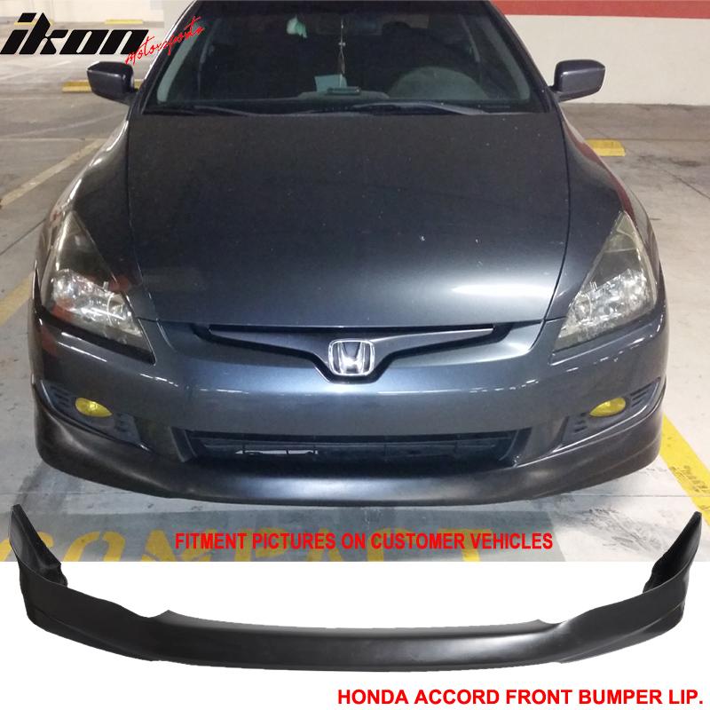 Fit 03-05 Accord 4D Sedan MUGEN Type Urethane Front Bumper Lip Spoiler Bodykit