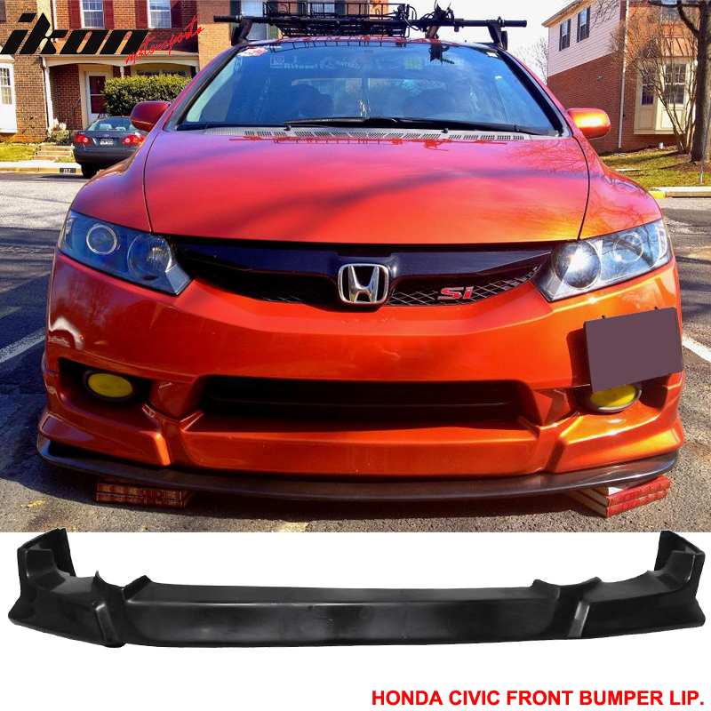 Sun Window Visor Fits For 09-11 Honda Civic 4Dr Poly Urethane Front Bumper Lip