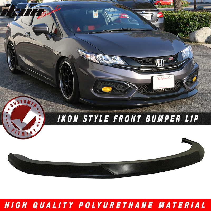 Fits 14 15 Civic 2dr Coupe Ikon Style Front Bumper Lip