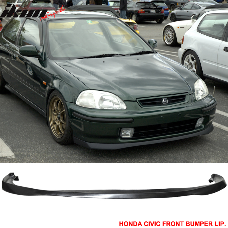 Fit 96-98 Civic 3dr + TR Style Grill SIR Style Front Bumper Lip Mesh PU