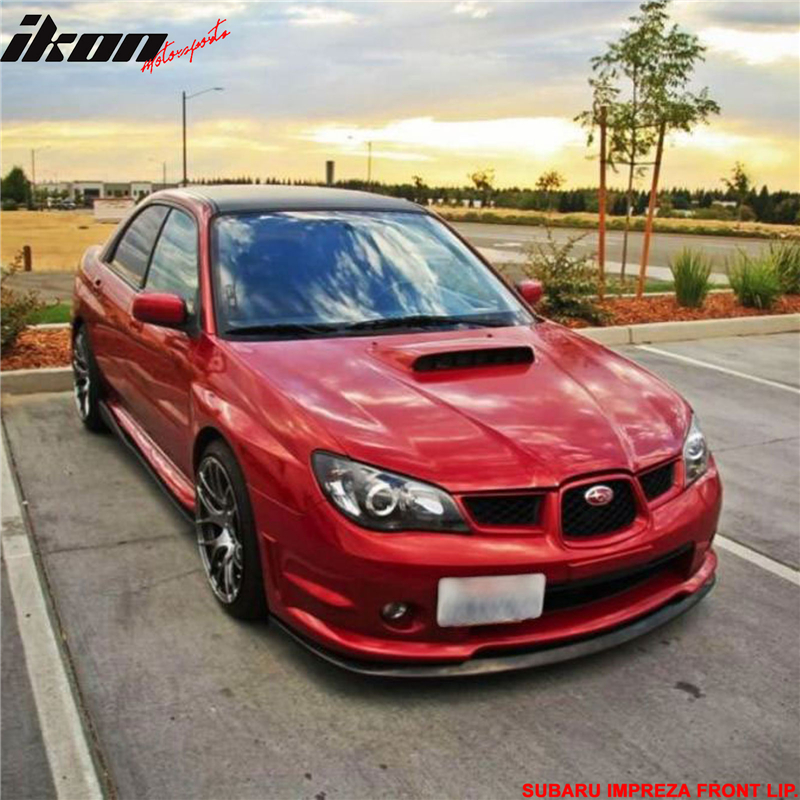 fits 06 07 subaru impreza wrx sti s204 front bumper lip spoiler body kit pp ebay. Black Bedroom Furniture Sets. Home Design Ideas