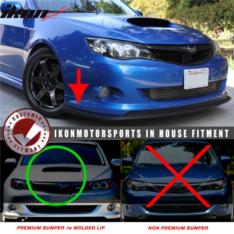 Fits 08 10 Subaru Wrx Premium Bumper Lip Spoiler Sti Style